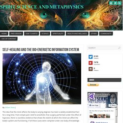 Self-Healing And The Bio-Energetic Information System