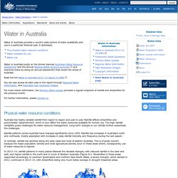 Water in Australia 2013-14 summary: Water Information: Bureau of Meteorology