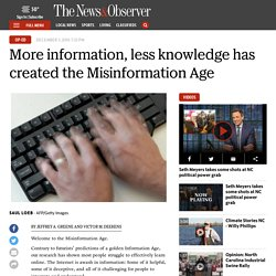 More information, but less knowledge in the Misinformation Age