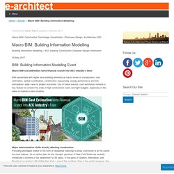 Macro BIM: Building Information Modelling - e-architect