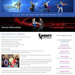 Venue Information - Ceroc and Modern Jive Dance Company