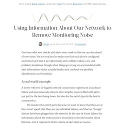 Using Information About Our Network to Remove Monitoring Noise by Taylor of 37signals