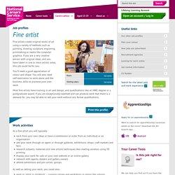 Fine artist Job Information