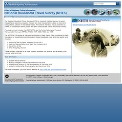 Office of Highway Policy Information (OHPI) – National Household Travel Survey (NHTS)