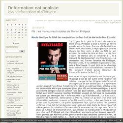 FN : les maneuvres troubles de Florian Philippot