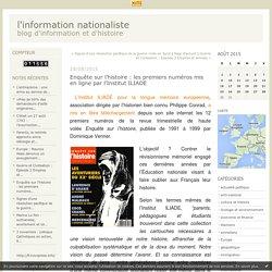 Enquête sur l'histoire : les premiers numéros mis en ligne par l'Institut ILIADE