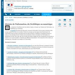 Histoire de l'information, du Néolithique au numérique-Histoire-géographie-Éduscol