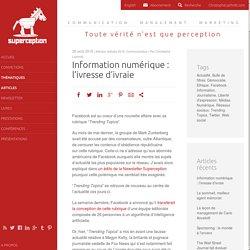 Information numérique : l'ivresse d'ivraie