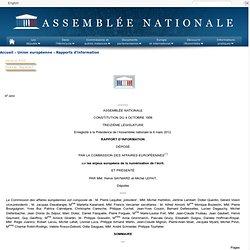 4450 - Rapport d'information de MM. Hervé Gaymard et Michel Lefait déposé par la commission des affaires européennes sur les enjeux européens de la numérisation de l'écrit