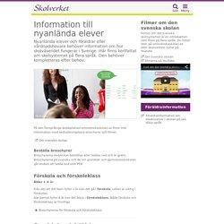 Information till nyanlända elever
