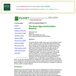 The Seven Ages of Information Retrieval - UDT Occasional Paper #5