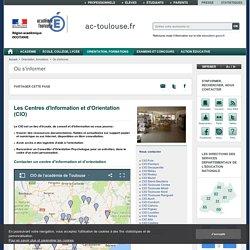 Les Centres d'Information et d'Orientation (CIO)