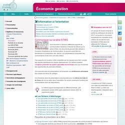 Information à l'orientation - Économie gestion