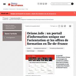 Oriane.info : un portail d'information unique sur l'orientation et les offres de formation en Île-de-France