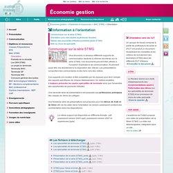 Information à l'orientation - Économie-gestion