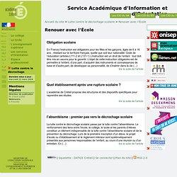 [Service Académique d'Information et d'Orientation] Renouer avec l'École
