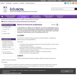 Services d'information et d'orientation - Les CSAIO et IEN-IO