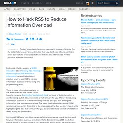 How to Hack RSS to Reduce Information Overload — Online Collaboration