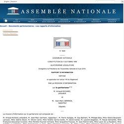 N°3829 - Rapport d'information de M. Jean-Marc Germain fait au nom de la mission d'information sur le paritarisme