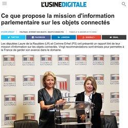 Ce que propose la mission d'information parlementaire sur les objets connectés