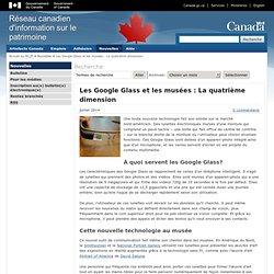 Les Google Glass et les musées : La quatrième dimension