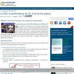 Direction des systèmes d'information, enjeux et performance