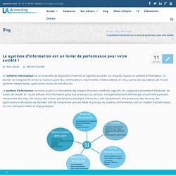Le système d'information est un levier de performance pour votre société ! - JL Consulting : Cabinet de conseil - ERP,CRM,BI & DEV