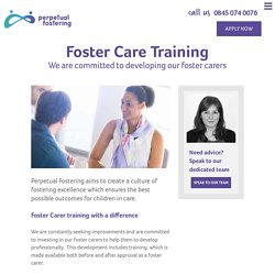 Foster Care Training to Develop Foster Carer