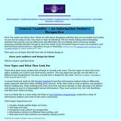 InfoQuest! Website Usability - An Information Seeker's Perspective