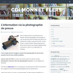 L'information via la photographie de presse – cdi monnet flers
