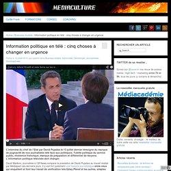 Information politique en télé : cinq choses à changer en urgence