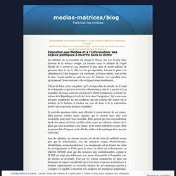 Education aux Médias et à l'Information: des enjeux politiques à inscrire dans la durée