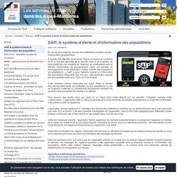 SAIP, le système d'alerte et d'information des populations / Brèves / Actualités / Accueil - Les services de l'État dans les Alpes-Maritimes