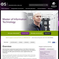 Master of Information Technology - Postgraduate study at the University of Newcastle
