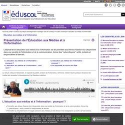 Éducation aux médias et à l'information - Présentation de l'EMI