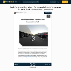 Basic Information about Commercial Auto Insurance in New York PowerPoint Presentation - ID:9838274