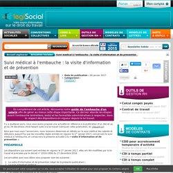 LégiSocial - Suivi médical à l'embauche : la visite d'information et de prévention