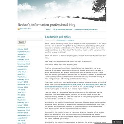 Bethan's information professional blog