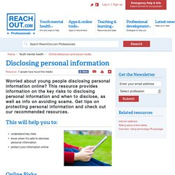 Disclosing personal information