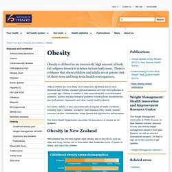 Obesity - information for health professionals