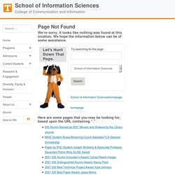 Selected Positions of Information Professionals | School of Information Sciences