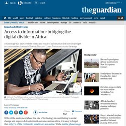 Access to information: bridging the digital divide in Africa