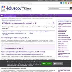 Éducation aux médias et à l'information - L'EMI et les nouveaux programmes (cycle 2 et 3)