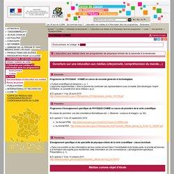 Physique-Chimie - Voie générale - Lycée - L'éducation aux médias et à l'information dans les programmes - S'informer, se documenter