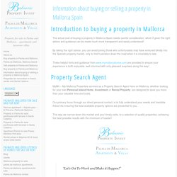 Information about buying a property in Mallorca