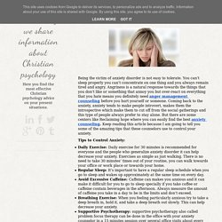 Amazing Tips to Manage Anxiety
