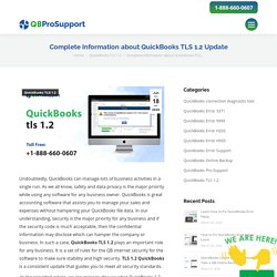 Complete Information about QuickBooks TLS 1.2 Update