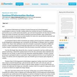 Système D'information Auchan - Note de Recherches - candamat