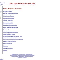 Library-Best Information on the Net - Online Reference Resources