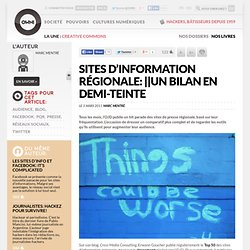 Sites d'information régionale: un bilan en demi-teinte » Article » OWNI, Digital Journalism